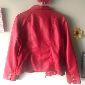 Ellen Tracy Jackets & Coats - Ellen Tracy Red Leather Jacket